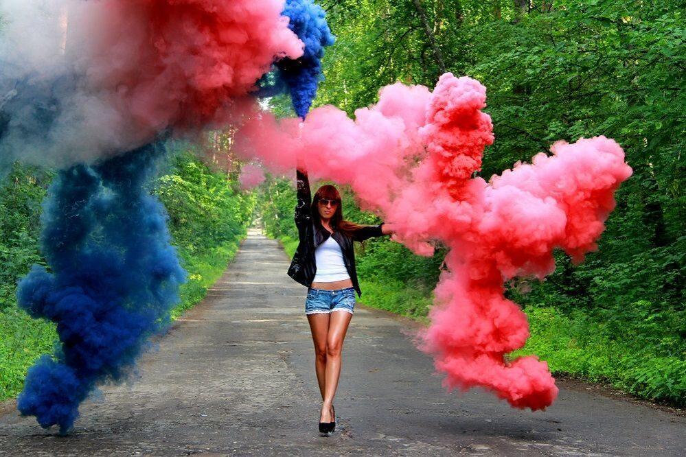Как сделать цветной дым в домашних 621